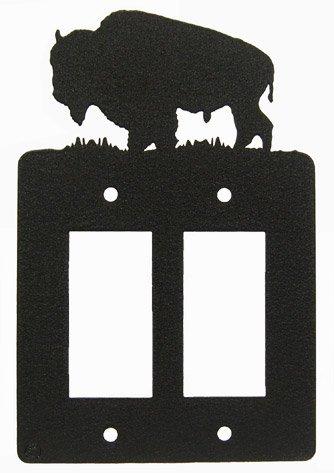 Buffalo Double GFI Rocker Light Switch Plate Cover