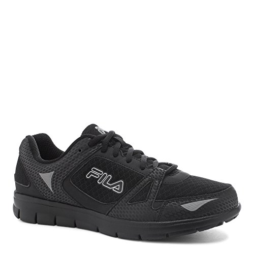Fila Men's NRG Running Athletic Sneakers, Black Leather, Mesh, 8 M