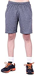DFH Men's Cotton Shorts (MNDG1_$P, Dark Grey, L)
