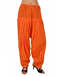 Stylenmart Women Readymade Orange Patiala Pants For Girls