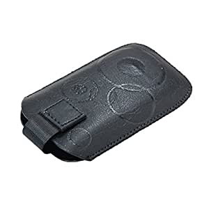 Black Faux Leather Sleeve Case Pouch Protector for Nokia N86