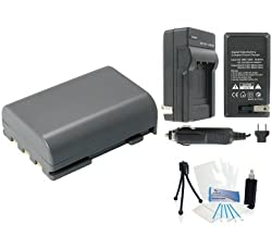NB-2LH High-Capacity Replacement Battery with Rapid Travel Charger for Select Canon Digital Cameras. UltraPro Bundle Includes: Camera Cleaning Kit, Camera Screen Protector, Mini Travel Tripod