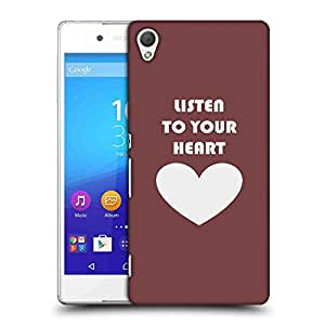 Snoogg Listen To Your Heart Designer Protective Phone Back Case Cover For HTC one A9