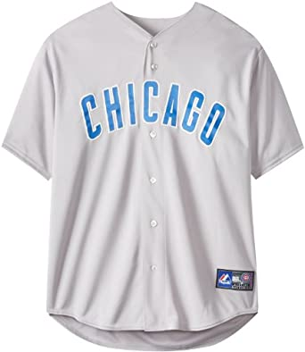 MLB Chicago Cubs Away Replica Jersey, Gray by Majestic