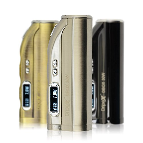 Dripex® DBOX 30W E-Cigarette Starter Kit 7W-30W Box Mod OLED Display Wattage/Voltage/Ohm/Power , No Nicotine No Tobacco(Stainless)