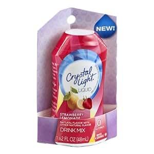 Amazon Com Crystal Light Strawberry Lemonade Liquid Drink Mix 1 62 Oz Bottled Iced