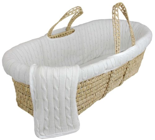 wicker bassinet discount tadpoles cotton cable knit moses. Black Bedroom Furniture Sets. Home Design Ideas