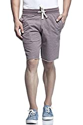 Tinted Men's Cotton Polyester Shorts TJ4201-COFFEE-M