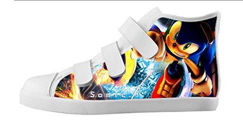 YKMS Customize Sonic The Hedgehog Boy's Canvas Shoes Footwear Sneakers Flat Shoes (Sonic The Hedgehog Sneakers)