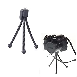 Neewer Small Bendable Flexible Black table top Tripod for Compact Cameras