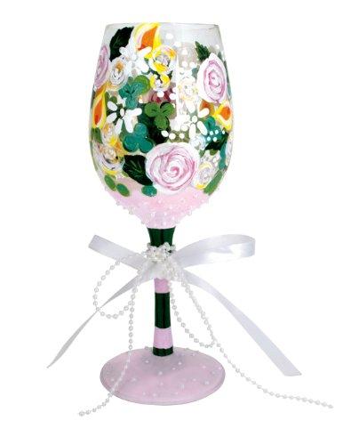 Lolita Wine Glass, Bridal Bouquet, Designs by Lolita