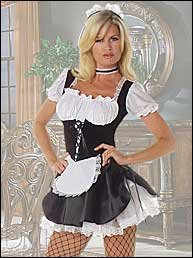 French Maid Deluxe Costume.