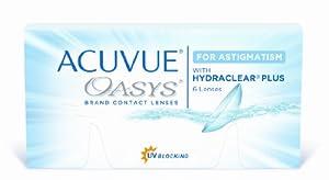 Acuvue Oasys for Astigmatism 2-Wochenlinsen weich, 6 Stück / BC 8.6 mm / DIA 14.5 / CYL -1.25 / Achse 180 / 5.50 Dioptrien