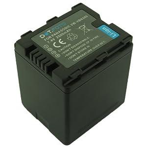 Panasonic VW-VBN260, VW-VBN260E-K de rechange Rechargeable avec Batterie de camescope Dot.Foto Dot.Foto InfoChip - 7,4 V/2500mAh-Garantie 2 ans-Panasonic HC-X800/HC-X900/HC-X900M