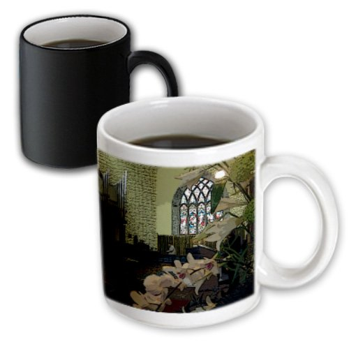 Mug_44111_3 Jos Fauxtographee Realistic - Inside An Old Church With Stained Glass Windows In Ireland - Mugs - 11Oz Magic Transforming Mug