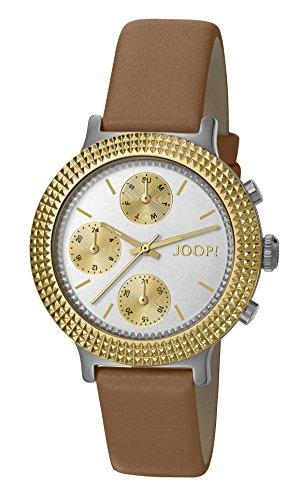Joop. Mujer de reloj de pulsera Golden Leather analógico de cuarzo piel jp101852002