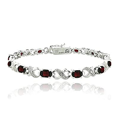 6.6ct Garnet & Diamond Accent Infinity Bracelet