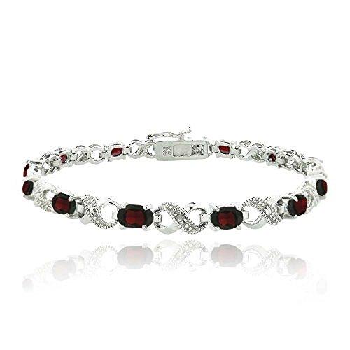 66ct-garnet-diamond-accent-infinity-bracelet