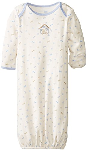 Vitamins Baby Baby-Boys Newborn Dog House Gown, Ivory, One Size back-1061335