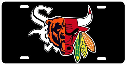 Chicago Sport Teams Combined Logo Novelty Front License