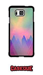 Caseque Rainbow Art Back Shell Case Cover for Samsung Galaxy Alpha