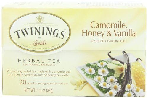 TWININGS Herbal Tea, Camomile Honey and Vanilla, 20-Count (Pack of 6)
