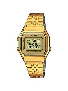 Casio Casio Collection LA680WEGA-9ER - Reloj digital de cuarzo para mujer, correa de acero inoxidable color dorado (luz, alarma, cronómetro) de Casio