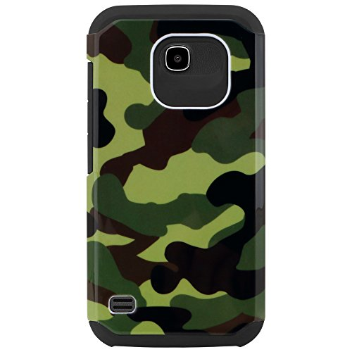 Huawei Union Case - Celljoy Liquid Armor Camo Green Huawei Union Y538 Slim Fit Dual Layer Protective Shockproof Hybrid Reinforced Bumper Impact Resistant Camouflage Case - Thin Hard Cover