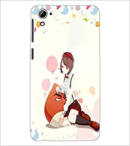 PrintDhaba Cute Girl D-4965 Back Case Cover for HTC DESIRE 826 (Multi-Coloured)