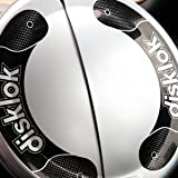 Full Cover Large Silver Car Security Disklok - Steering Wheel Lock by Disklok