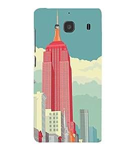 EPICCASE Abstract newyork Mobile Back Case Cover For Mi Redmi 2s (Designer Case)