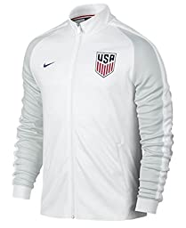 U.S Authenic N98 Track Top Jacket Mens (White) (Medium)