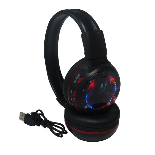 Iwoo Over Ear Colorful Led Light Wireless Stereo Headset Micro Usb Fm Tf / Sd Player Headphones