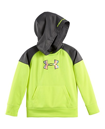 Under Armour Little Boys' Colorblocked Hoody, Hi Vis Yellow, 3T