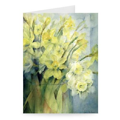 Daffodils, Uncle Remis and Ice Follies by Karen Armitage - Greeting Card (Pack of 2) - 7x5 inch - Art247 - Standard Size - Pack Of 2