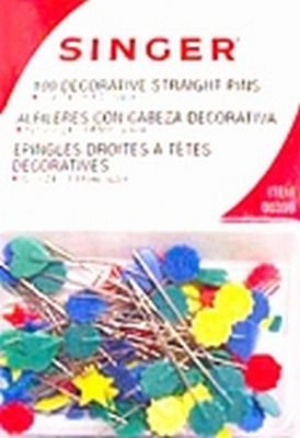 Singer Decoative Head Straight Pins,100-count (3-Pack)