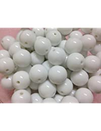 10pc 20mm White Acrylic Chunky Beads Bubblegum Beads Necklace Beading Supplies