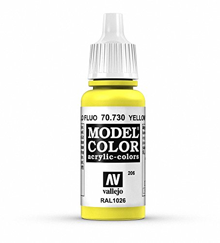 Vallejo Yellow Fluorescent Paint, 17ml