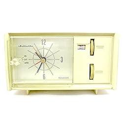 Vintage Westclox Clock,am Radio,alarm,solid State,model #Acr-801
