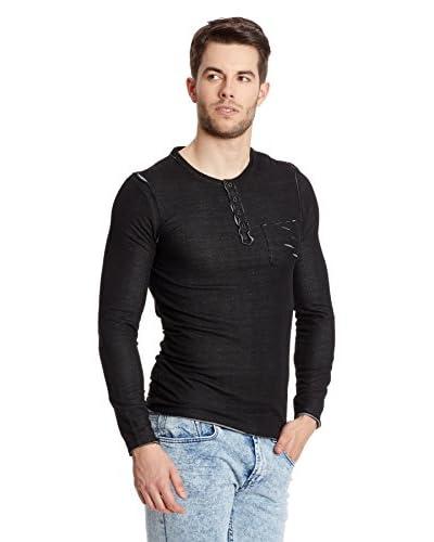 Collezione Camiseta Manga Larga Negro