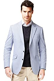 Collezione Pure Cotton 2 Button Hairline Striped Jacket