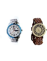 EWWE ANALOG MEN WATCH WITH FREE LEATHER STRAP WOMEN WATCH - B01DY4ILCW