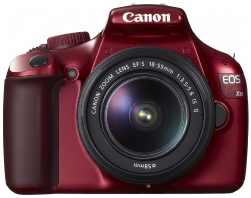 Canon デジタル一眼レフカメラ EOS Kiss X50 レッド EF-S18-55IS2レンズキット KISSX50RE-1855IS2LK