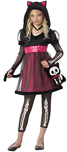 California Costumes Gothic Cat Kids Costume Black - Gothic Cat Kids Costume Large
