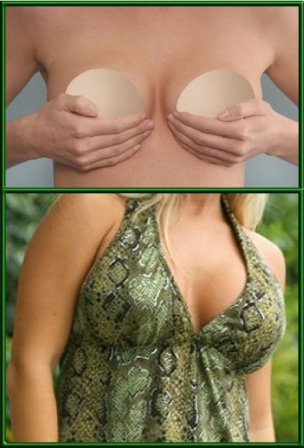 BustFree Strapless Padded Bra in Nude and Large Size .... Fits Cup Sizes Full B to Regular C