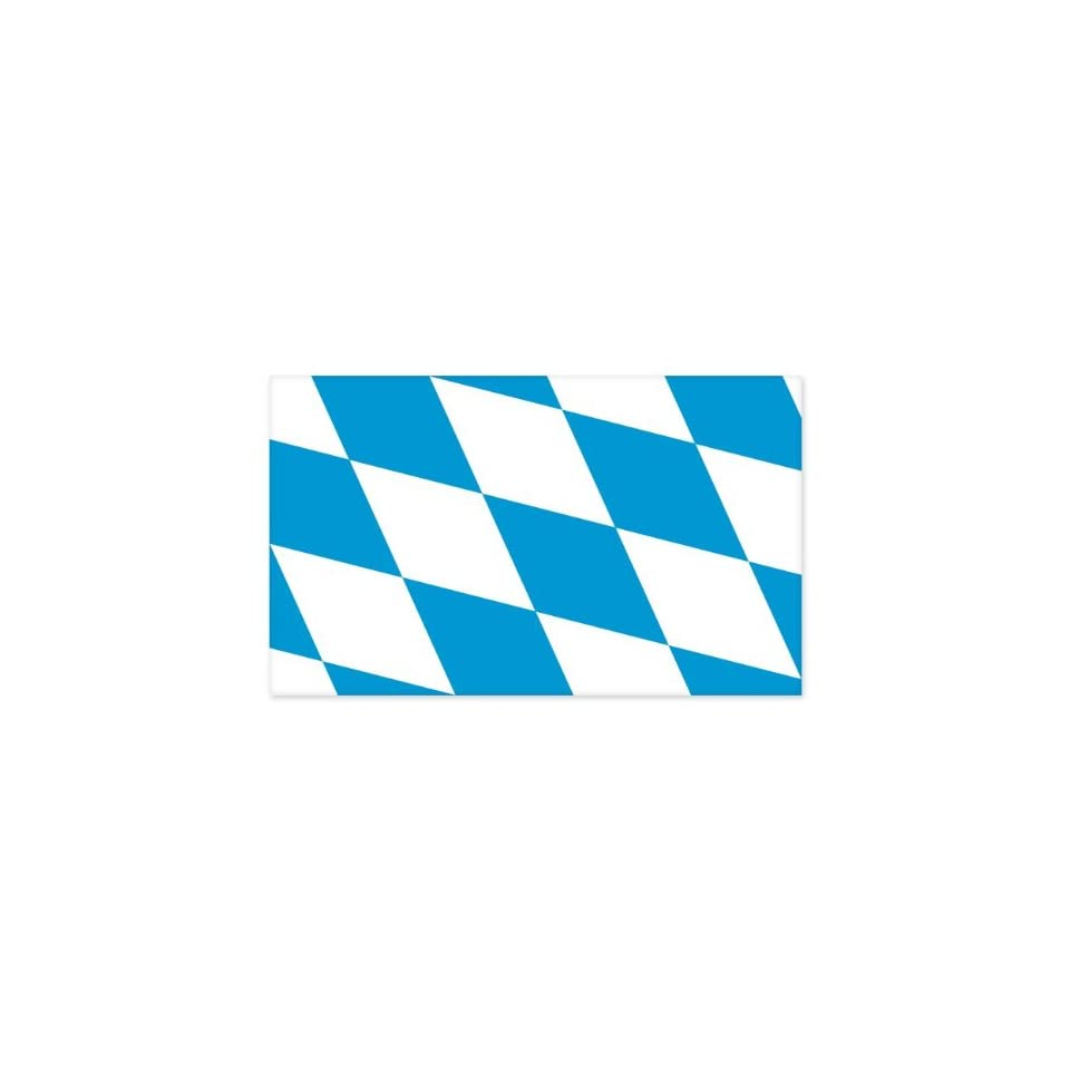 Bavaria Flag car bumper sticker window decal 5 x 3