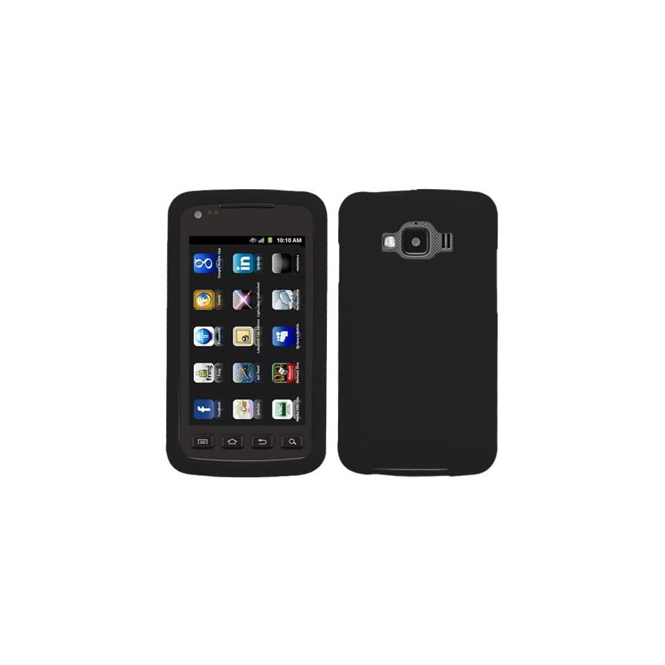 Soft Silicone Skin Case(Black) For SAMSUNG I847(Rugby Smart)