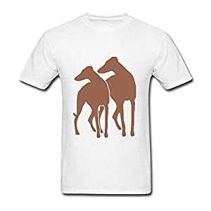Heerinsy Men's Animal Dog Ohio Gray Hound Adoption Color Short Sleeve T-Shirt S