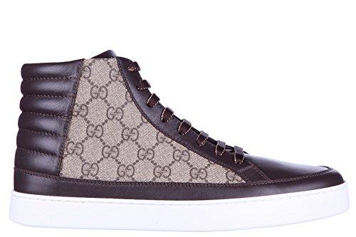 Gucci scarpe sneakers alte uomo nuove gg supreme beige EU 42 411857 A9LN0 2167