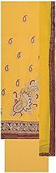 Seema Women's Cotton Unstitched Salwar Suit (Yellow)